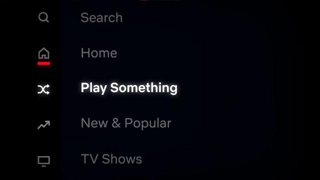 دکمه Play Something نتفلیکس