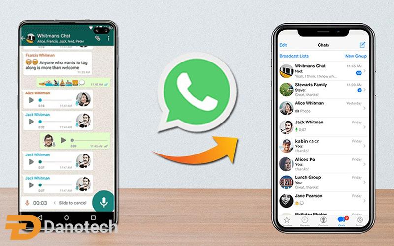 انتقال چت های واتساپ بین اندروید و iOS