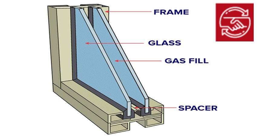 خالی شدن گاز شیشه دوجداره