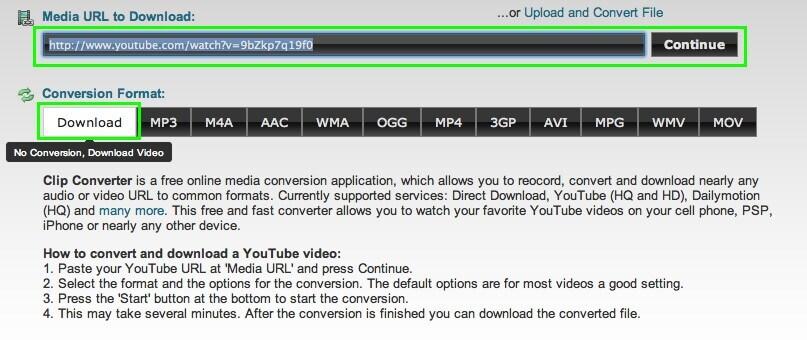 دانلود ویدیو از یوتیوب با سایت Clipconverter.cc
