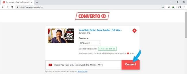 دانلود ویدیو از یوتیوب با سایت Converto
