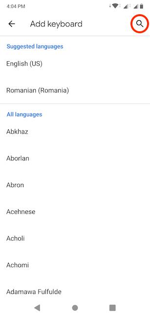 نحوه افزودن زبان کیبورد در اندروید
