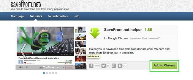 دانلود فیلم از یوتیوب با افزونه Savefrom.net