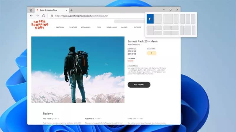 طرحهای Snap و Snap Groups در ویندوز 11