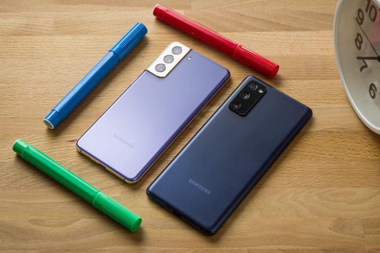 پوستر لو رفته سامسونگ S21 FE 5G رنگبندی این گوشی را نشان میدهد