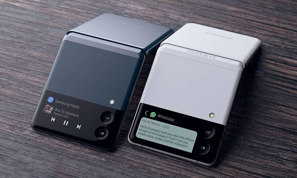 Galaxy Z Flip3 دارای بدنه بسیار کوچکی است