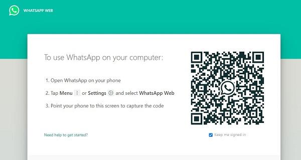کد QR واتساپ وب
