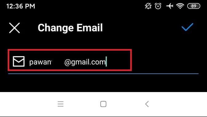 تغییر آدرس ایمیل در اینستاگرام