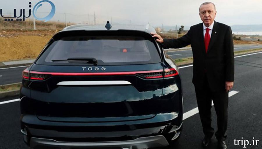 نخستین خودروی تولید ملی کشور ترکیه با نام تاگ یا توگ TOGG))