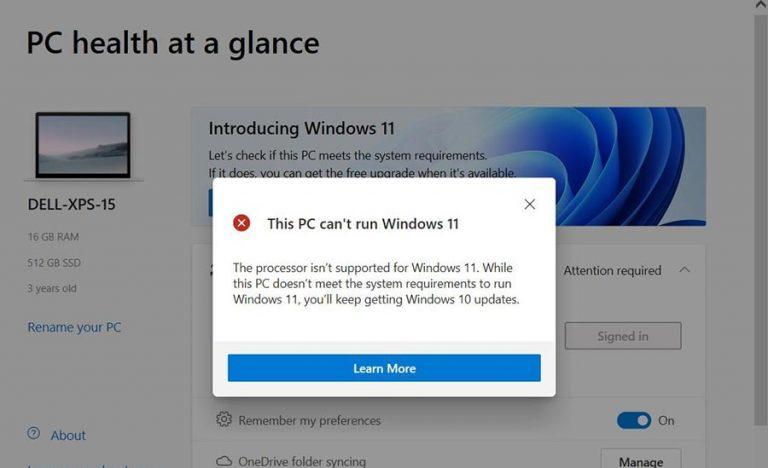 مایکروسافت دوباره برنامه PC Health Check را در ویندوز 11 منتشر کرد