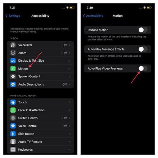 غیر فعال کردن پخش خودکار ویدئوها در Safari