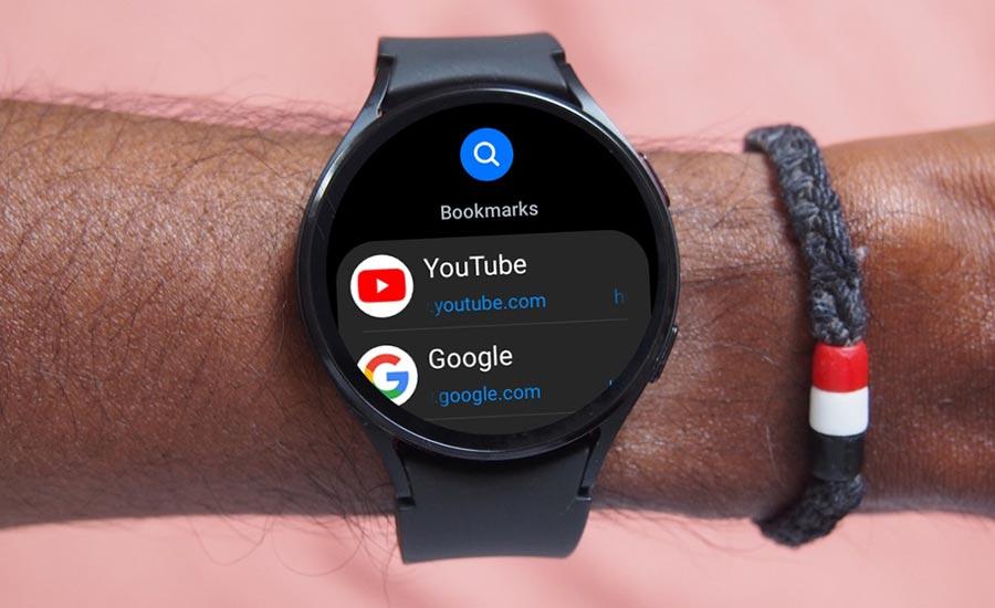 مرورگر اینترنت سامسونگ در Galaxy Watch 4 Series موجود است